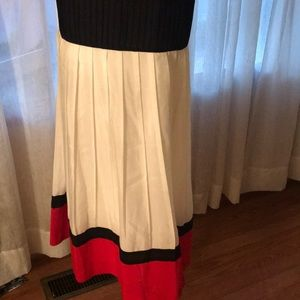 Anne Klein Dresses - Beautiful red black and white Dress
